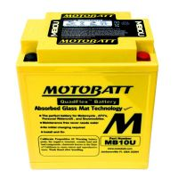 MB10U Motobatt AGM Motorcycle Battery 12v 14Ah 175CCA (YB10*, 12N10*, 12N11*) Buy Online from The Battery Shop